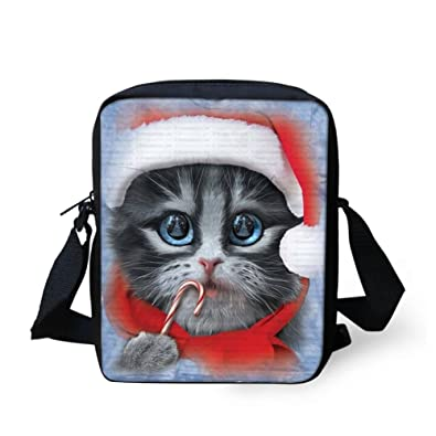ffa6b171221 Amazon.com  HUGS IDEA Cute Cat Print Small Cross Body Bags Handbag Travel  Sling Shoulder Bag Purse for Women Girl  Shoes