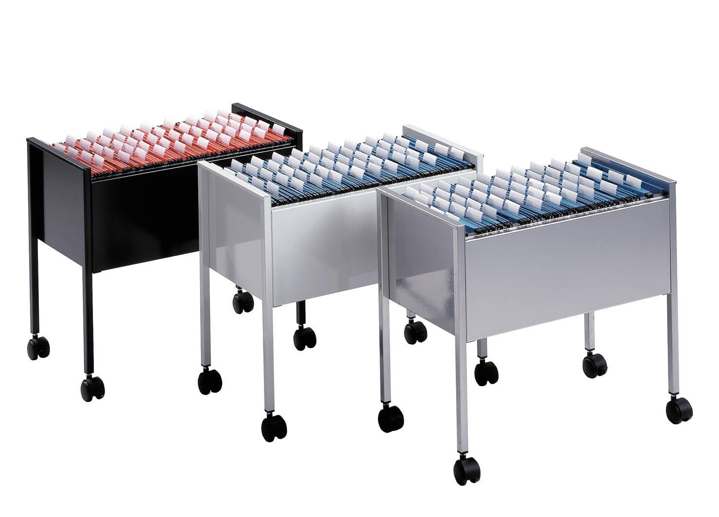 capacit/à 80 cartelle f.to A4 carrello per cartelle sospese 80 A4 655x592x368 mm DURABLE 309510 grigio Economy