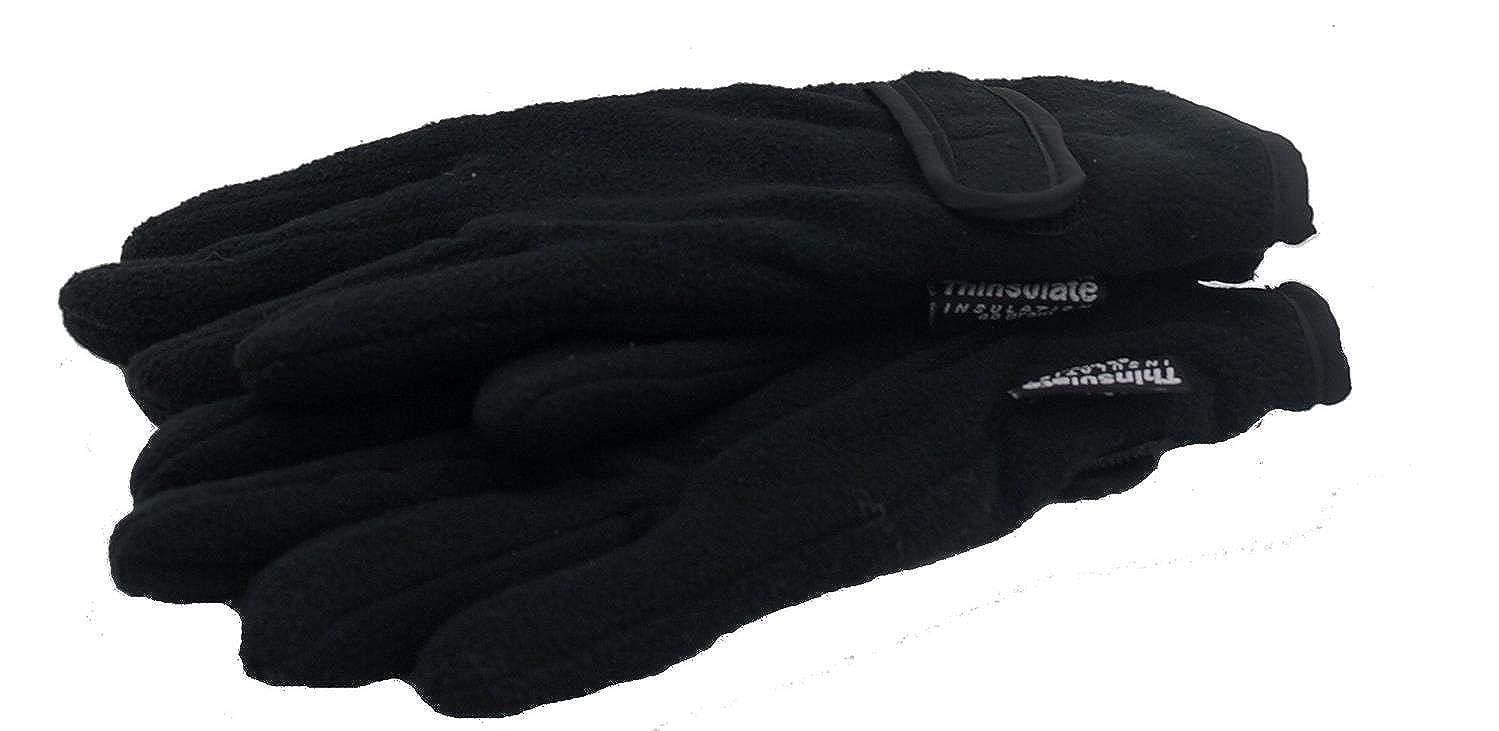 Boys Thinsulate Fleece Gloves Black)