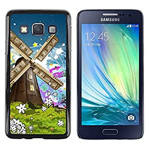 Be Good Phone Accessory // Dura Cáscara cubierta Protectora Caso Carcasa Funda de Protección para Samsung Galaxy A3 SM-A300 // Nature Painting Art Summer Flowers