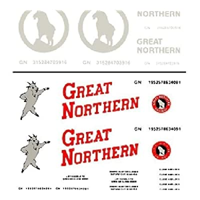 Woodland Scenics Great Northern Box Cars Dry Transfer Decals: Toys & Games