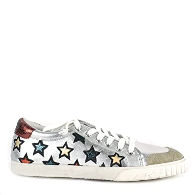 5d230cf1eb1ba Ash MAJESTIC Star Print Trainers Silver Leather