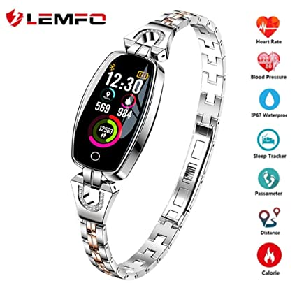 Amazon.com : LEMFO H8 Smartwatch, IP67 Waterproof Heart Rate ...