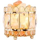 Himalayan Salt Lamps Natural Himalayan Crystal with Metal Base,Rock Salt from Pakistan Dimmable Controller, Dimmer…