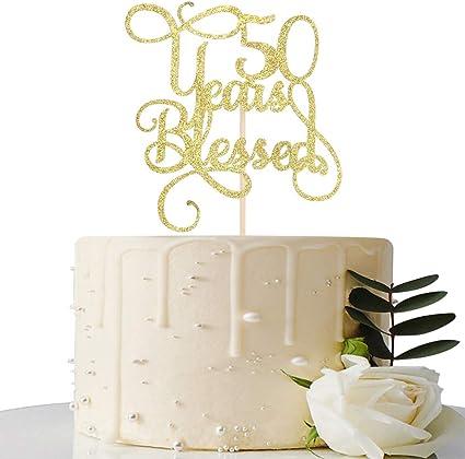 Amazon.com: Decoración para tarta con purpurina dorada de 50 ...