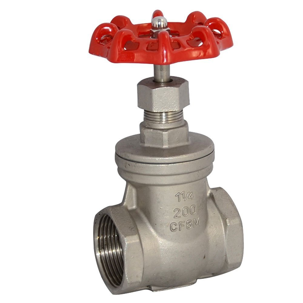 1-1/4'' NPT Female Thread Heavy Duty Gate Valve,Stainless Steel SUS SS 316,CF8M