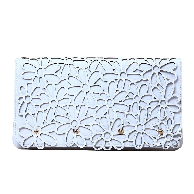 "Melie Bianco ""Marie"" Clutch Handbag (H6186) White"