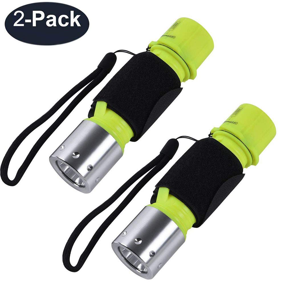 ChaseLight Diving Light Submarine Scuba Flashlight Dive Light Waterproof Underwater Torch for Scuba Diving, Night Snorkeling