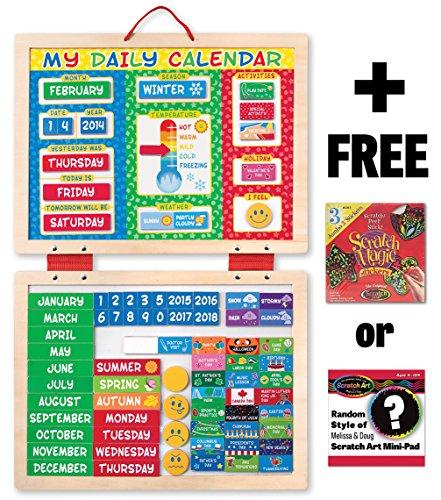 Magnetic Calendar Melissa Doug Mini Pad