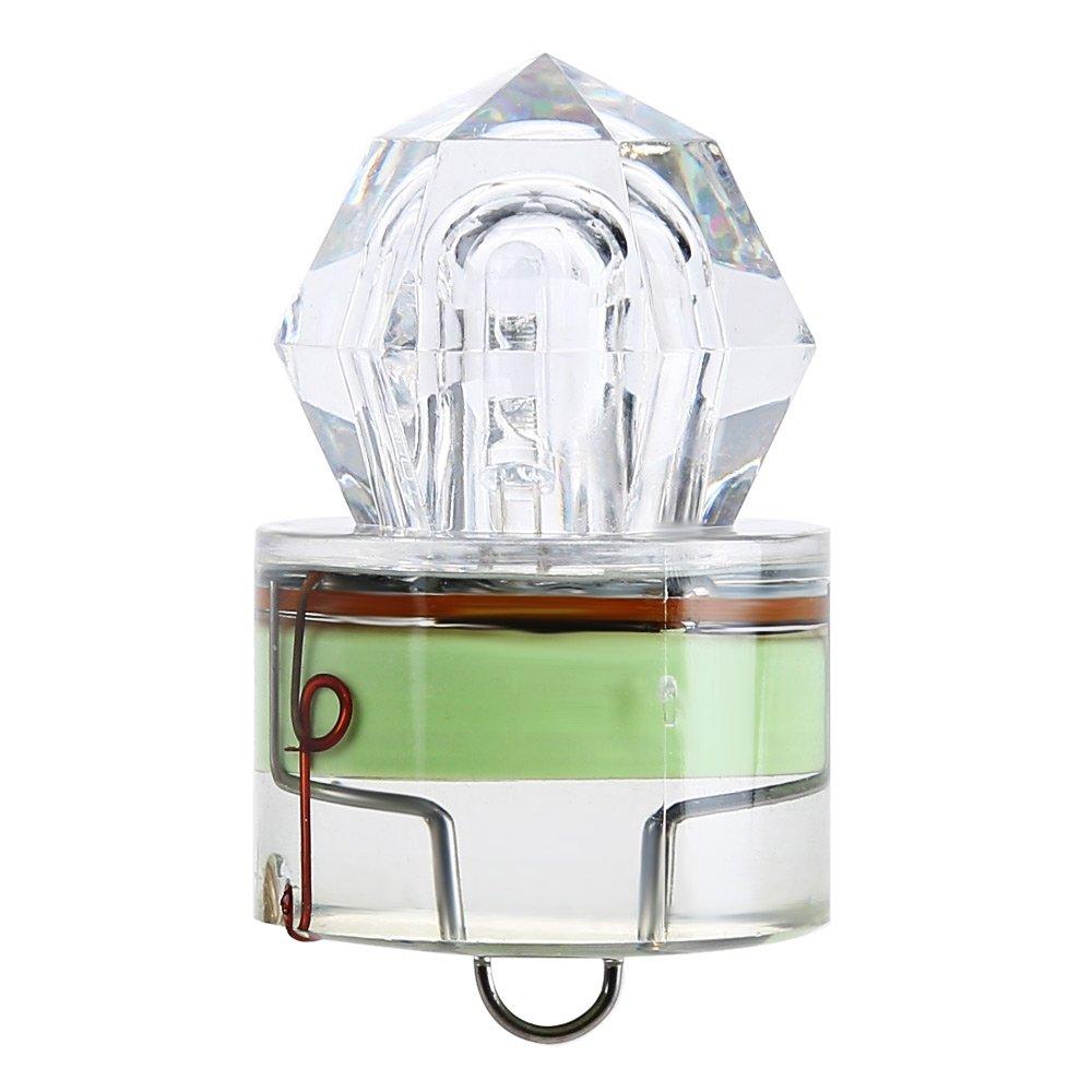 LED釣りイカ点滅ルアー餌ライトストロボLureランプUnderwater deep-drop形状懐中電灯クランク釣りTackle B0773J9FSG グリーン グリーン