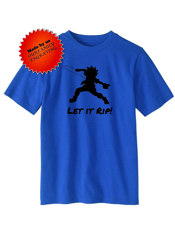 3ca0c8cd83aad Amazon.com: Beyblade let it rip Valt Vault tshirt shirt Toddler and ...