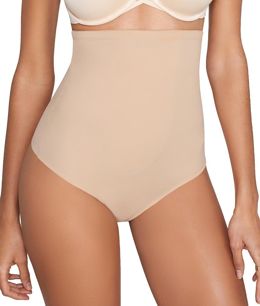 TC Fine Intimates Medium Control High-Waist Thong, S, Nude