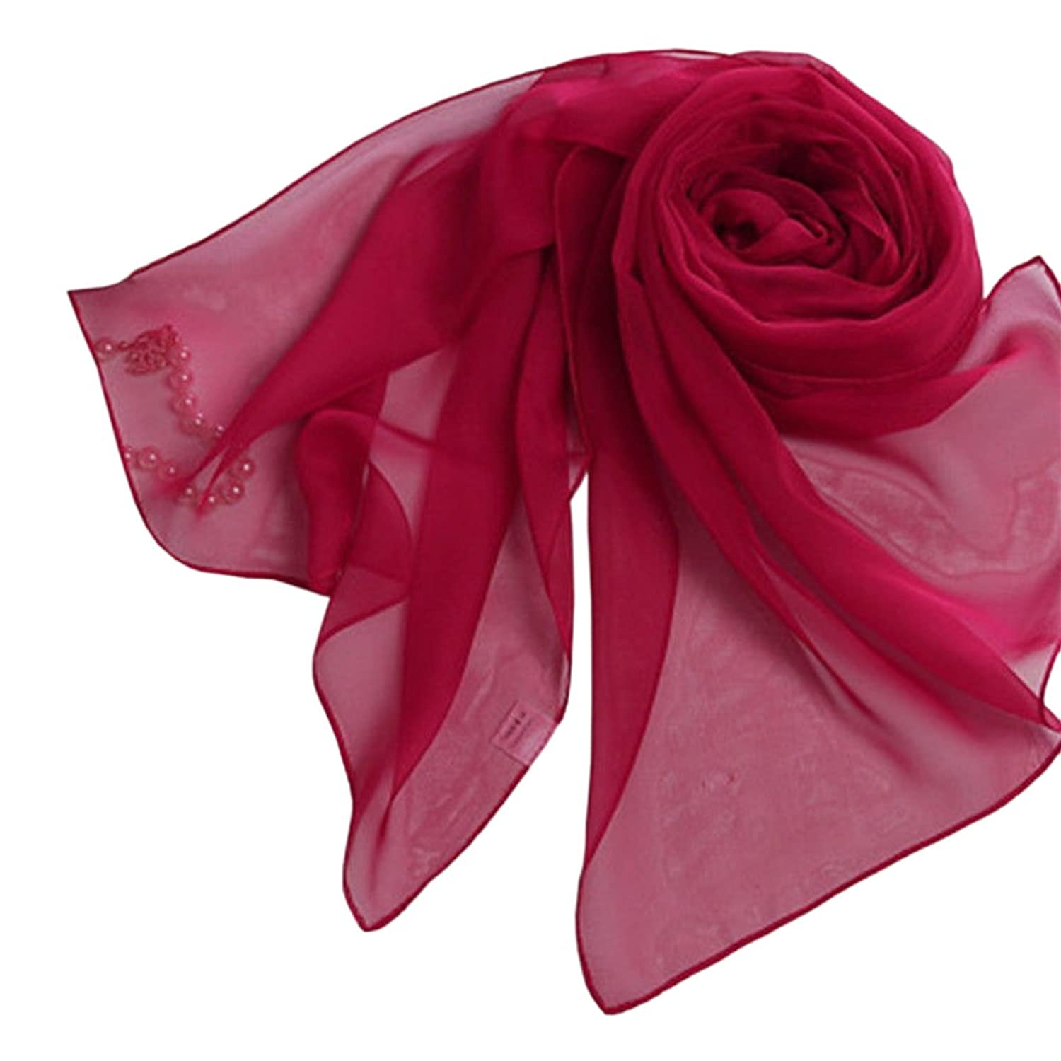 Fashion Lady Girls Long Sof tred Chiffon Scarf Wrap Shawl Stole Scarves