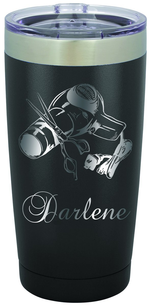 Hair Stylist 5 Personalized Engraved Insulated Stainless Steel 20 oz Tumbler