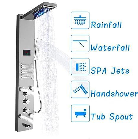Shower System Columna de la Torre de la exhibición del LCD Ditital ...