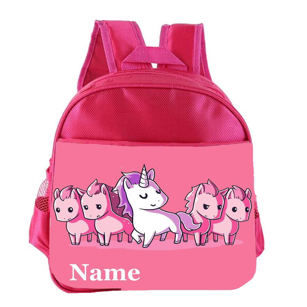 Unicorn Personalised Customised Kids Toddlers Nursery School Bag Backpack