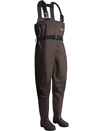 076e211980e OXYVAN Waders Waterproof Lightweight Fishing Waders with Boots Bootfoot  Hunting Chest Waders for Men Women