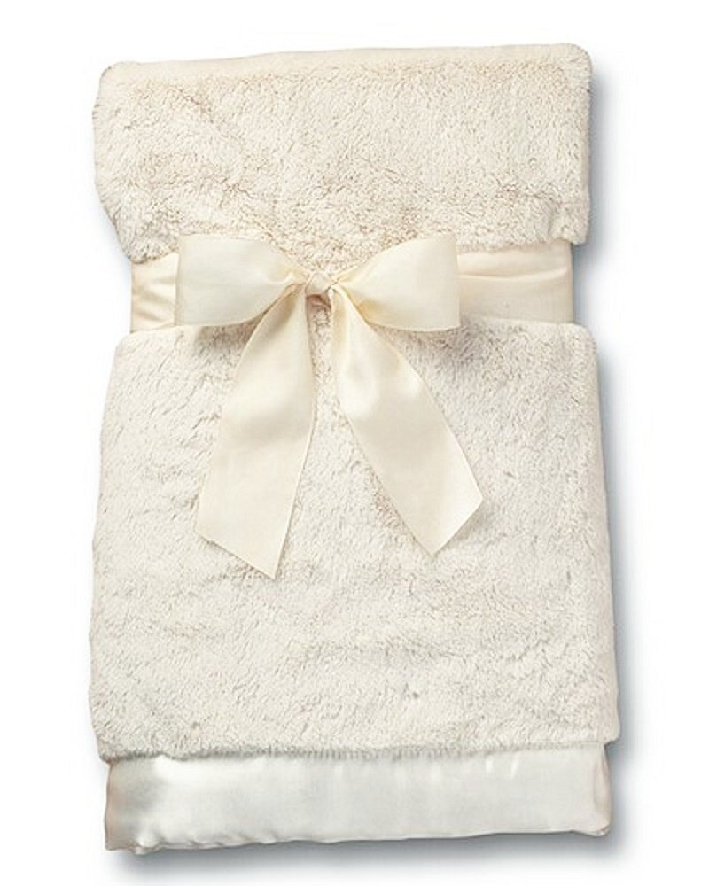 Bearington ベアリントン Silky Soft Crib Blanket (Cream)ふかふかで柔らかサテンのふちどりが可愛いクリームブランケット/出産祝い/お誕生日   B002W5G7N0