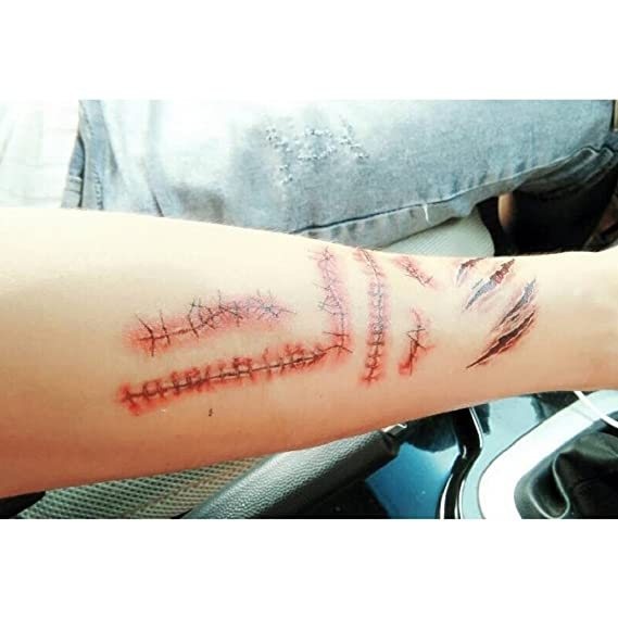 Tuopuda 10 hojas Tatuajes Temporales de Tatuajes de Halloween ...