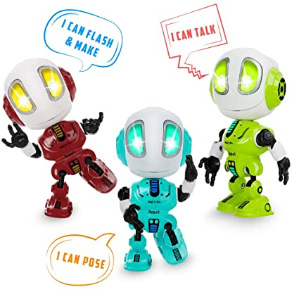 Robot Toys for Kids Girls Boys Age 3 and Up, Mini Interactive Voice Changer  Robotics, Touch Sensor Talking Robots, Desk Decorations, Best Kids Gift,