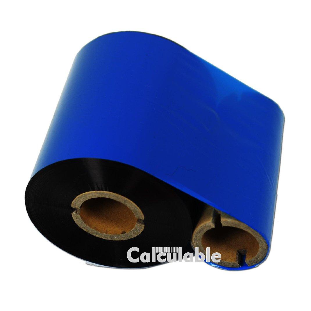 110mmx74m Thermal Wax Ribbons 1//2 Core Thermal Transfer Wax Ribbon for Zebra,TEC,DATAMAX,INTERMEC,Avery,Citizen,SATO,TSC,GODEX,ARGOX Calculable 12 Count 4.33 x 243