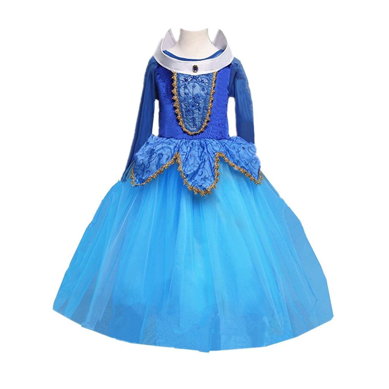 Amazon.com: Disney Princess Sparkle Dress - Sleeping Beauty 4-6X ...