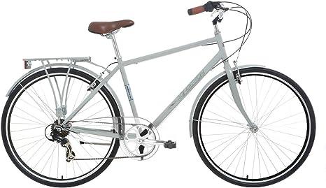 Kingston Hampton - Bicicleta híbrida (tradicional, de montaña), color gris, talla 19 pulgadas: Amazon.es: Deportes y aire libre
