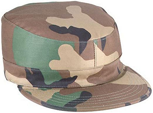 U.S Army Camouflage Baseball Cap Embroidered Military Hat Woodland Camo X-Large