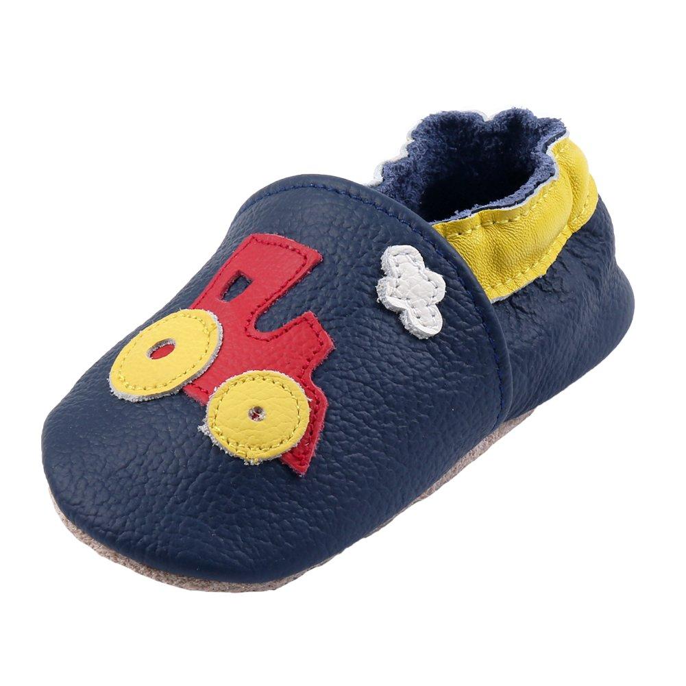 iEvolve Baby Mädchen Jungen Babyschuhe Baby Weiche Sohle Lederschuhe Baby Lauflernschuhe Krabbelschuhe Vielzahl Optionen XZ