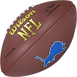 Wilson Detroit LIons Logo Football