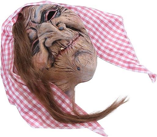 Halloween Masque Horreur Masque Sorcières Masque grand-mère Masques vieille dame Walpurgis Nuit