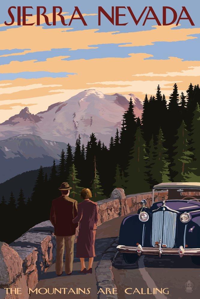 Sierra Nevada – the Mountains Are Calling 16 x 24 Giclee Print LANT-48548-16x24 B00Z4UQL7C  16 x 24 Giclee Print