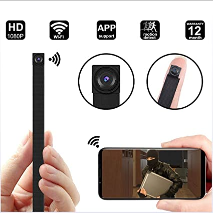 GWJ Espía Cámara 1080P Oculta Mini Cámara WiFi Wireless Pequeñas Cámaras De Seguridad Portátil con Detección