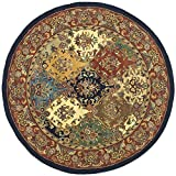 Safavieh Heritage Collection HG911A Handcrafted Traditional Oriental Multi and Burgundy Wool Round Area Rug (3'6″ Diameter) Review
