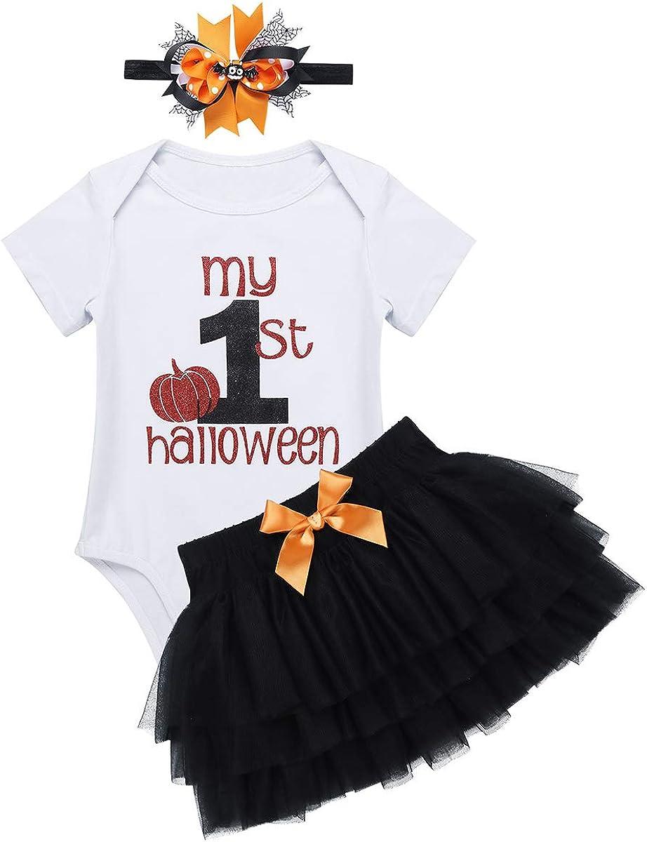 Agoky Disfraz de Calabaza para Bebé Niña Traje de 1 Años Halloween ...