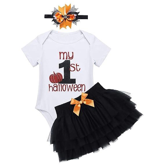 Agoky Disfraz de Calabaza para Bebé Niña Traje de 1 Años ...