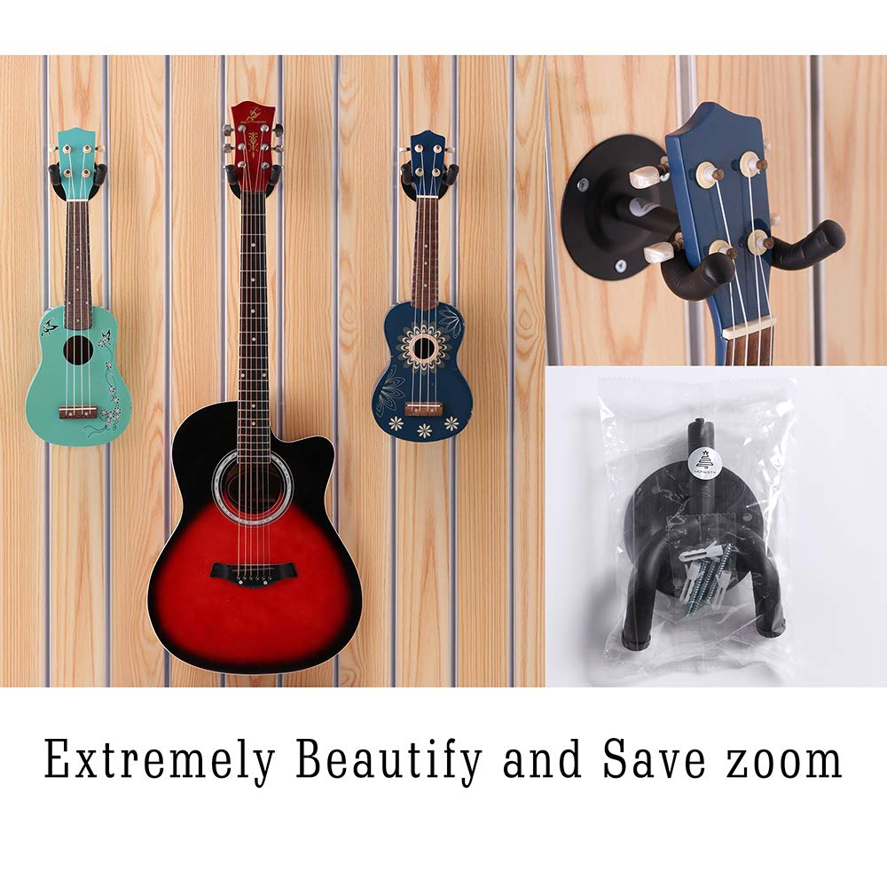 2-Pack,for Slatwall and Wall Hangers HONESTY Guitar Display Hanger Premium Guitar Hooks Perfectly Displayed in Music Retail Stores//Bedrooms//Bars Black