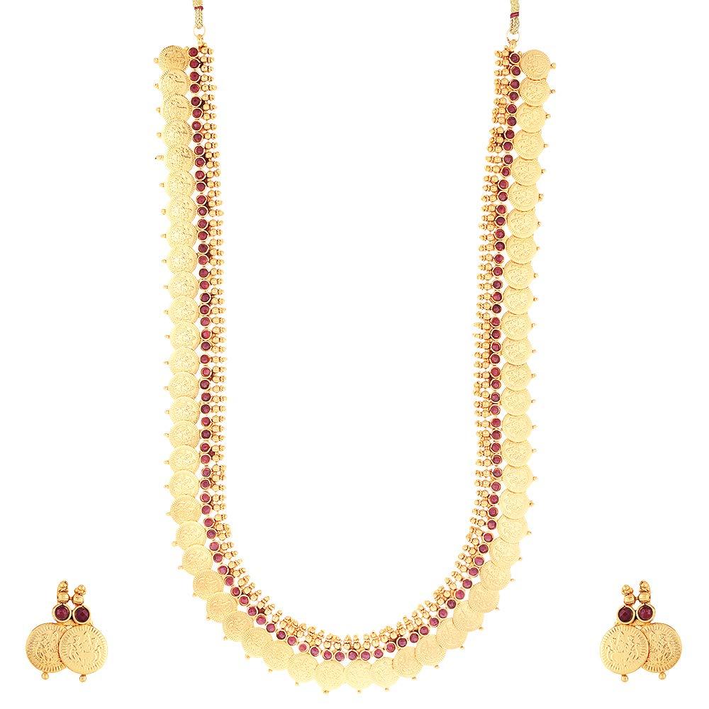 Gold Plated Kasu Mala Necklace