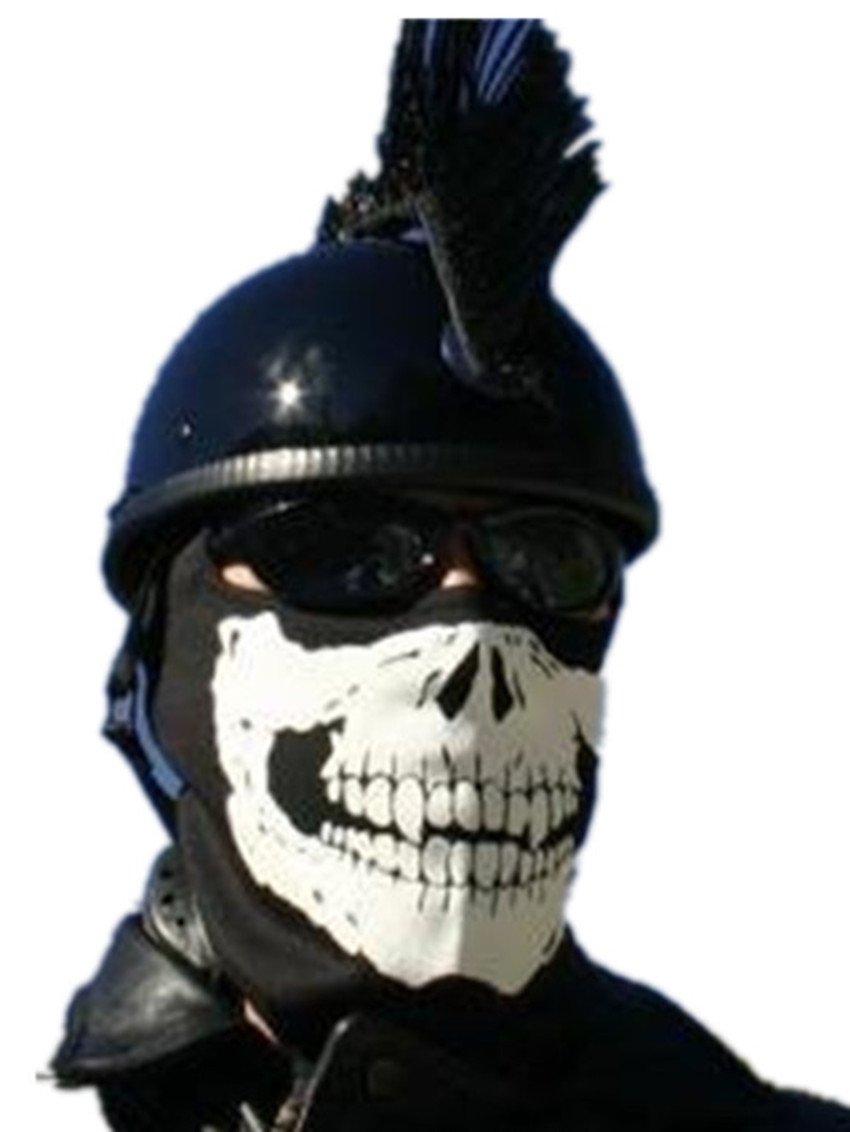 Black/White -The Dark Extreme Skull Ghost Full Face Mask ...