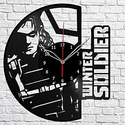 Amazon com: Vinyl Clock The Winter Soldier Vinyl Record Wall Clock