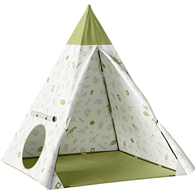 Pillowfort Kids Teepee, Backyard Icons Green: Electronics