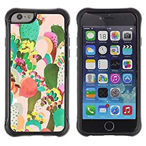 Pulsar iFace Series Tpu silicona Carcasa Funda Case para Apple iPhone 6+ Plus(5.5 inches) , Arte Desierto Pintura Acuarela""