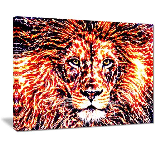 Lion wall art - fierce lion wall art decorations