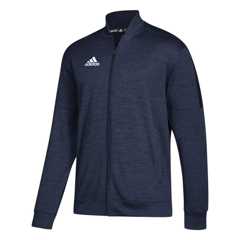 adidas Athletics Team Issue Bomber, Collegiate Navy Melange/White, 3X-Large