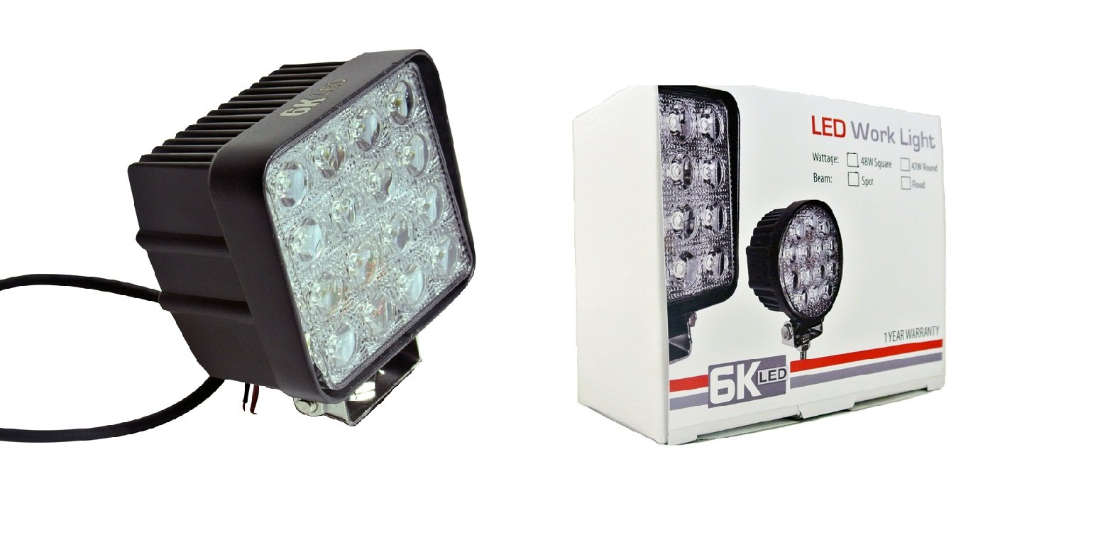 6KLED 448 Heavy Duty Bright Led Worklight 48w
