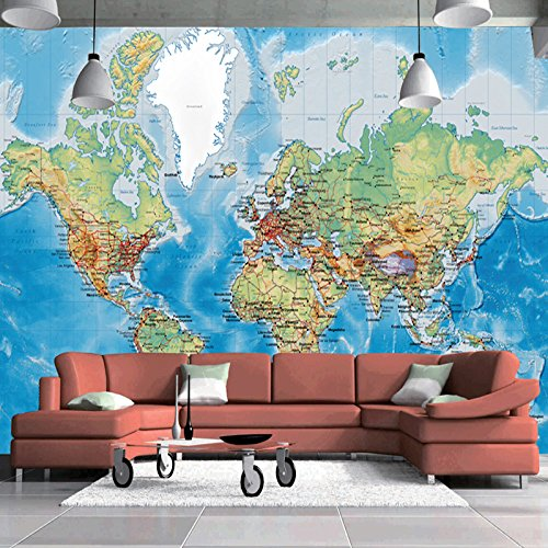 Rebelde Stickers (3D Wallpaper For Walls Custom Wall Mural Non-woven Wall Paper Modern World Map Living Room Sitting Room Sofa Backdrop Home Decor)