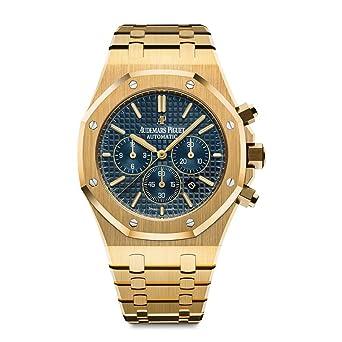 f45c9dfeb8d AP Audemars Piguet ROYAL OAK 41 Yellow Gold Navy Blue Dial 26320BA.OO.1220BA