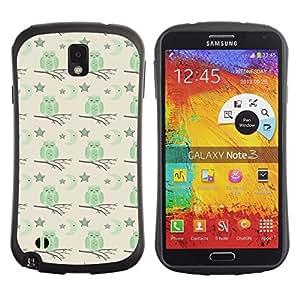 DesignCase Premium TPU / ABS Hybrid Back Case Cover Samsung Galaxy Note 3 III ( cute owl )