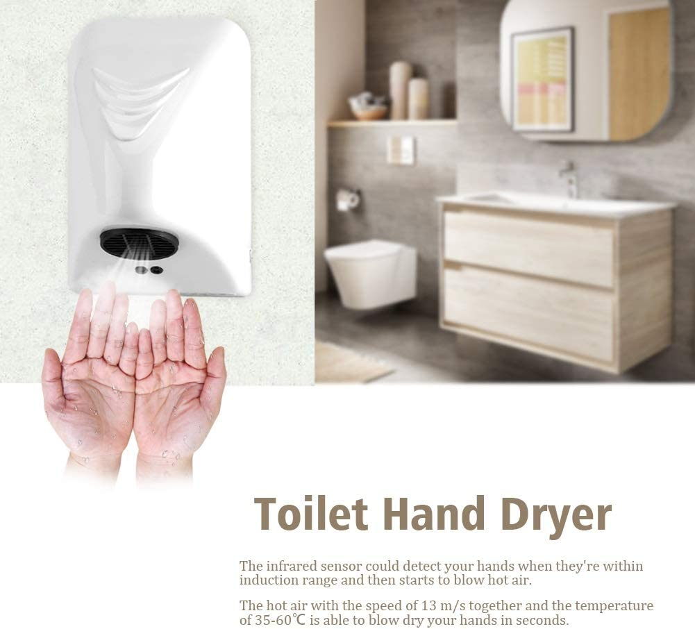 Automatic Hand Dryer 600W Household Hotel Commercial Hand Dryer Electric Automatic Induction Hands Drying Device