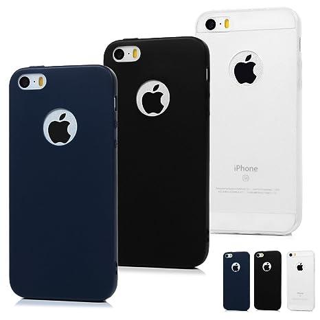 3 pcs x coque iphone se /5 /5s etui silicone